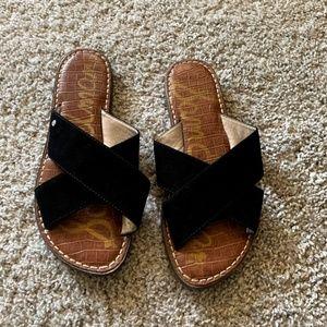 Sam Edelman Sandals Black Cross Strap Slip-on 6